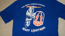 (2-Sided) US ARMY 335th THEATER Signal Command T-Shirt Size M Ready Lightning
