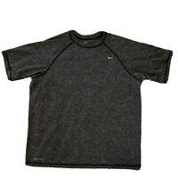 The Nike Tee Mens Dri Fit T-Shirt Short Sleeve Athletic Cut Size XL-Heather Gray