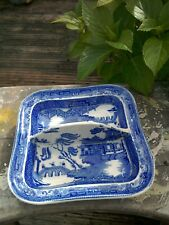 ANTIQUE WEDGWOOD WILLOW PATTERN DISH