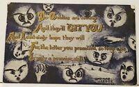 "GOBLINS WILL GET YOU, ""GIT YOU"" 1910 Sanford Card Co, Dansville NY Postcard H18"