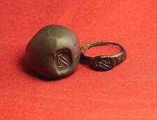 Ancient Roman Seal Ring, Finger Ring, 3. Century, Owl Seal