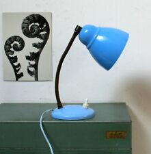 Petite lampe celluloïd bleu tige flexible rétro vintage 1950