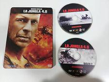 LA JUNGLA DE CRISTAL 4.0 DIE HARD 4.0 - 2 DVD STEELBOOK ESPAÑOL ENGLISH