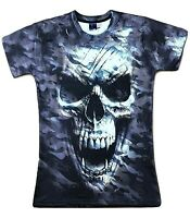 Vampire Skull T-Shirt ( camo camouflage all over print printed graphic skulls )