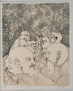 Künstler unbekannt/ handsigniert/ Lithographie/von 1975/90 Exe.