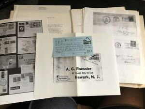 A.C. Roessler Large Pile of Miscellaneous Research Material, Magazine Cuttings