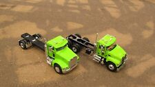 FIRST GEAR LIME GREEN MACK GRANITE PETE 385 2 TRUCK CUSTOM BUILDERS PACK 1:64/