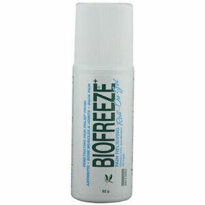 Biofreeze gel strains sprains aches pain relieve roll on or tube US made from ph