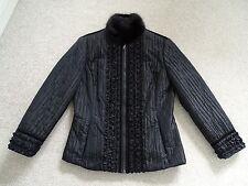 Ladies Italian Silk Jacket with Real Mink Collar from Bellville Sassoon Size 10