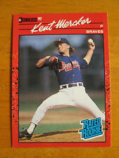 Rare! 1990 Donruss RED BLANKBACK - TEST ISSUE - ERROR - Kent Mercker #31 Braves