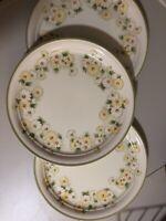 3 Set Noritake Keltcraft DAISYGARLAND 9101 Dinner Plates