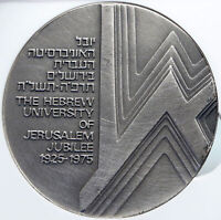 1975 ISRAEL Vintage HEBREW UNIVERSITY of JERUSALEM Old Silver Medal NGC i89345