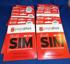 Lot of 12 Page Plus Dual 4G Lte Sim Card Standard Micro