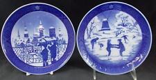 Royal Copenhagen Annual Christmas Plate 2 Collector Plates 1988 & 1989 A+
