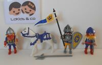 Playmobil KNIGHTS CHEVALIERS DU LION PRINCE + CHEVAL du SET 3314 INCOMPLET #122