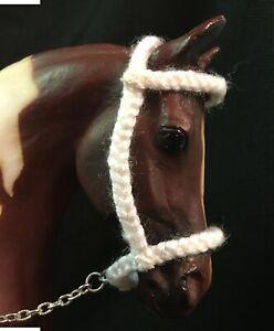 Extra Large Custom Model Horse HALTER Traditional BREYER DRAFT- WHITE