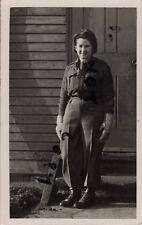WW2 Soldier Lady ATS Auxiliary Territorial Service wears battledress blouse