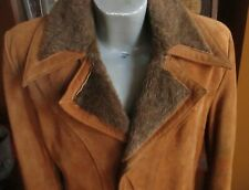 SMALL 38 True Vtg 70s SEARS WESTERN COWBOY RANCHER RAW SUEDE LEATHER JACKET