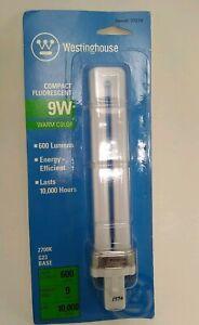 9 Watt Compact Fluorescent Light Bulb - Westinghouse Warm Color 9W *New