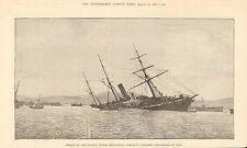 1887 ANTIQUE PRINT- SHIPWRECK-WRECK OF VALPARAISO AT VIGO