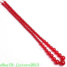 "6-14mm Natural Red Jade Graduated Shape DIY Gemstone Loose Beads Strand 17"""