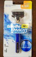 Gillette Mach3 Start Razor Handle -1 Pre fitted cartridge aqua grip new original