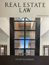 Real Estate Law by Elliot Klayman, Ninth Edition
