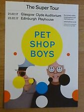 Pet Shop Boys - Glasgow/Edinburgh feb.2017 tour concert gig poster