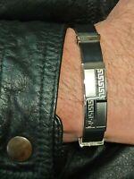 ETERNITY Men Bracelet GREEK MEANDER 10th Anniversary Gift SILVER Jewelry HANDMDE