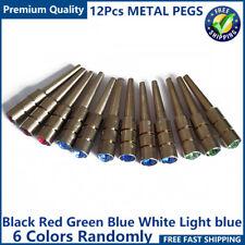 12Pcs Metal Cribbage Board Pegs with Brass Rhinestone Crystal