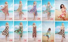 Chiffon Summer/Beach Floral Regular Size Dresses for Women