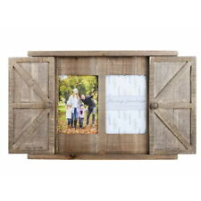 Paris Loft 2 Openning Rustic Wood Barn Door Picture Frame, Wall Photo Frame