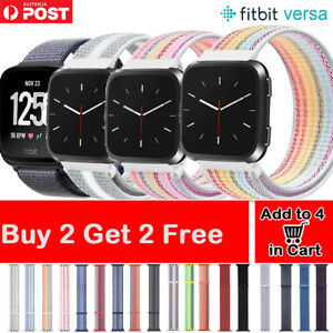 Fitbit Versa 2 1 Lite Nylon Sports Band Woven Loop Watch Strap Wristband Bands