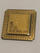 AMD R80186 FLAT PACK GOLD CERAMIC CHIP COLLECTIBLE VINTAGE PROCESSOR    fba10a57