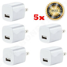 5x White 1A USB Power Adapter AC Home Wall Charger US Plug FOR iPhone 5S 6 7 8 X