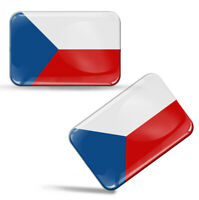 Autocollants 3D Résine Drapeau République Tchèque National Czech Flag Stickers