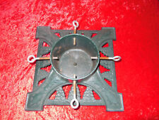 """Cast Iron Christmas Tree Stand Green 14""""x14 for up to 6"""" trunk"""