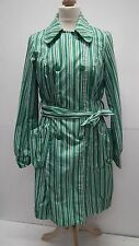 Green and White Striped Rain Coat from Vero  Moda  size Small