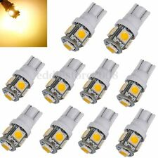 10x T10 5050 W5W 5 SMD 194 168 LED Warm White Car Side Wedge Light Lamp Bulb