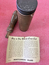 Ft3 Vintage Wooden wood crow call with original case tube and manual game callin