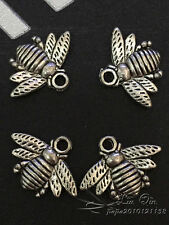 PJ120 20pc Tibetan Silver Little bee modelling pendant Beads Findings Wholesale