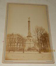 PHOTOGRAPHIE albuminée : Colonne du CHATELET Paris - GRANDS MAGASINS de la PAIX