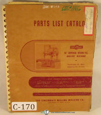 "Cincinnati 16"", Hydro-Tel Milling Machine Parts Manual 1955"