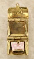 Vintage 9ct Yellow Gold Opening Enamelled Briefcase Charm (8.3g)