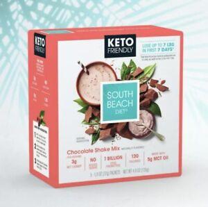 4 Boxes South Beach Diet Keto Friendly Chocolate Shake Mix 20 Packets BB Feb 22