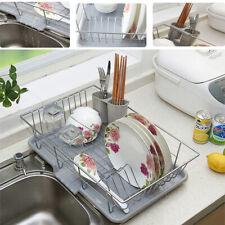PLATO De Acero Cromado Soporte de la placa de la taza cuchara Escurridor Rack Herramientas De Cocina Grande Nuevo
