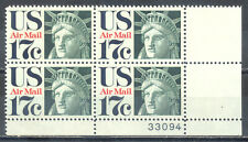 US Stamp (L125) Scott# C80, Mint NH OG, Plate Block, Air Mail