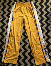 Nike Team Los Angeles Lakers Snap button Tearaway Warm up Pants Size XL