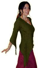 Maglie e camicie da donna viola scollo a v cotone