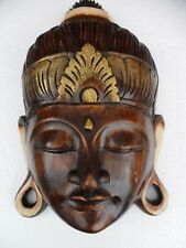 *  BUDDAH ORIENTAL HEAD WALL HANGING FAIRTRADE HANDMADE FROM BANGLADESH *